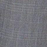 Trousers with a check pattern, made of stretch cotton, GREY, swatch