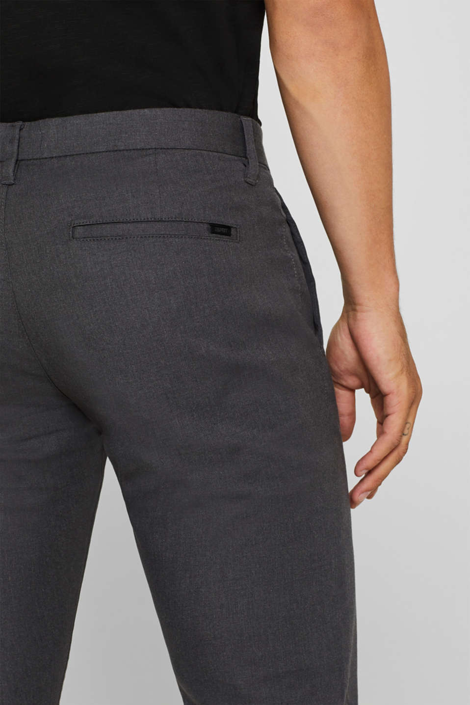 Pants woven Slim fit, ANTHRACITE, detail image number 2