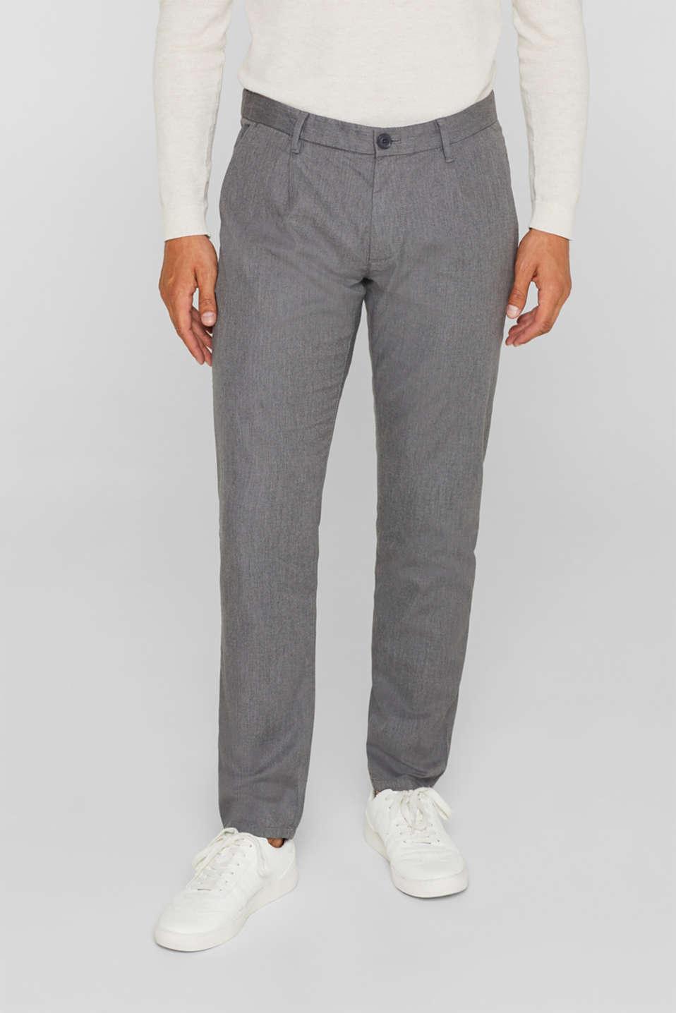 Stretch cotton chinos