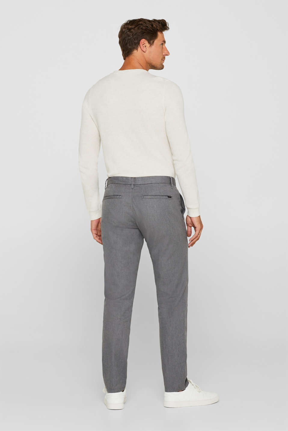 Pants woven Slim fit, GREY, detail image number 3
