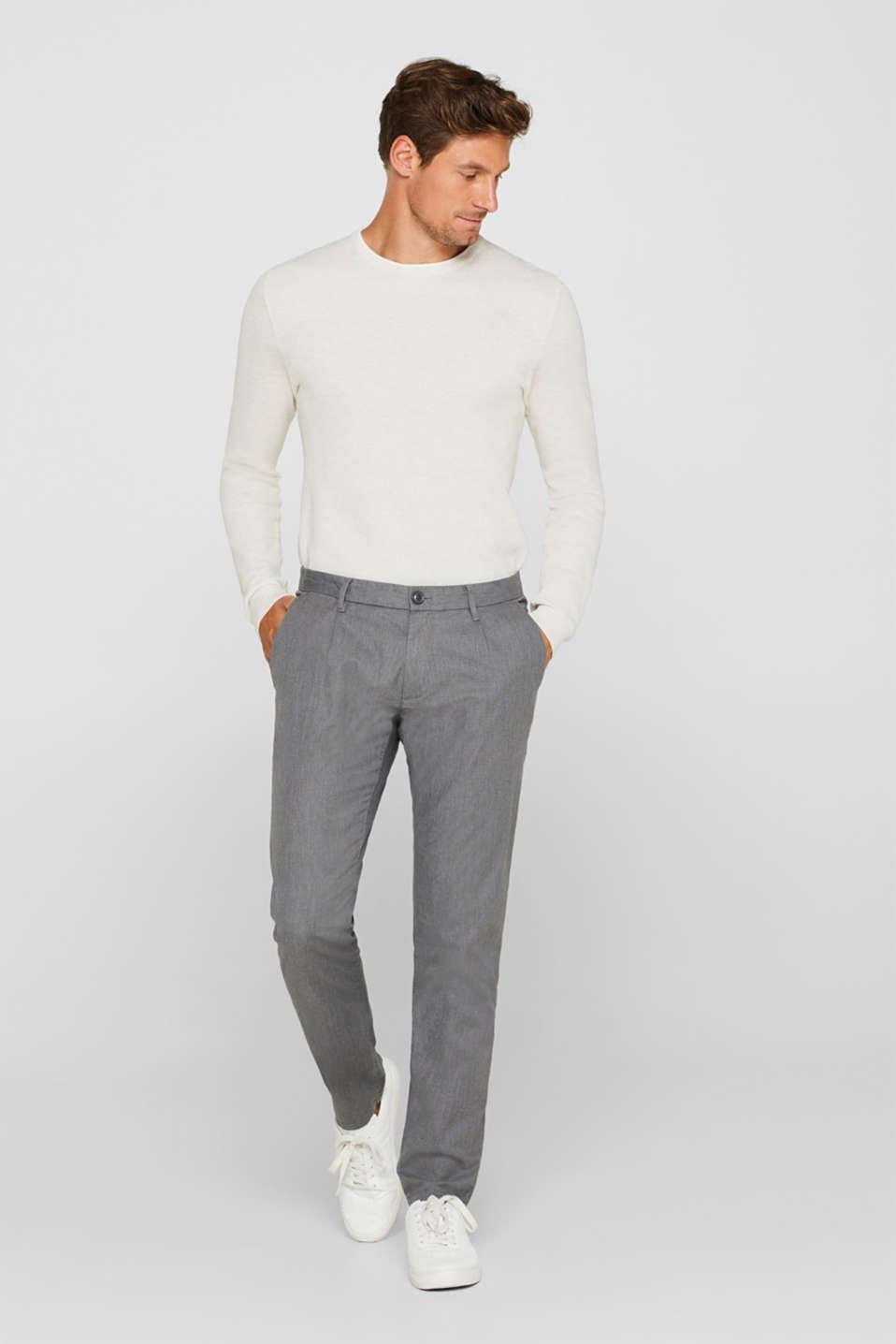 Pants woven Slim fit, GREY, detail image number 5