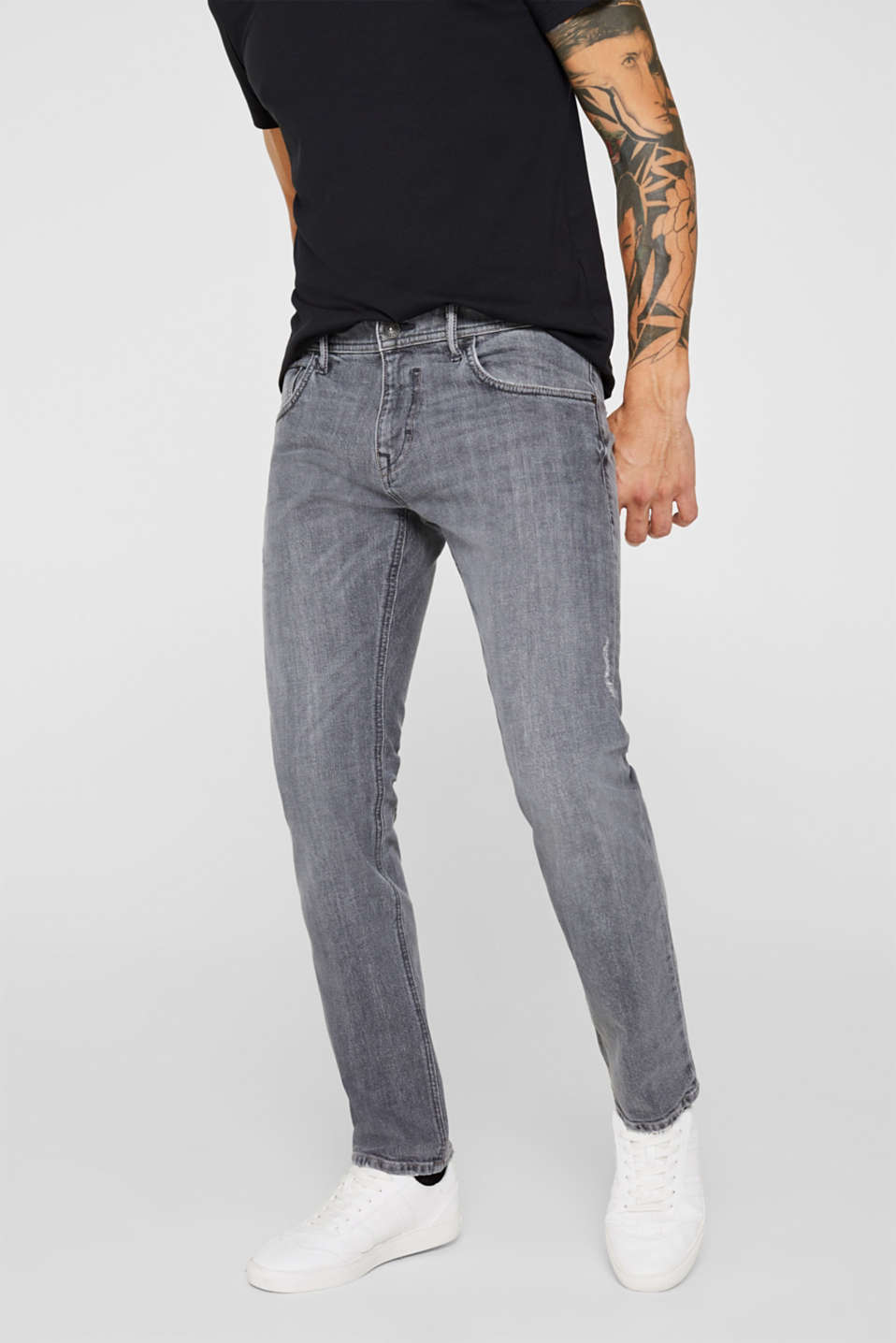 Esprit - Stretch-Denim mit Washed Out-Effekt