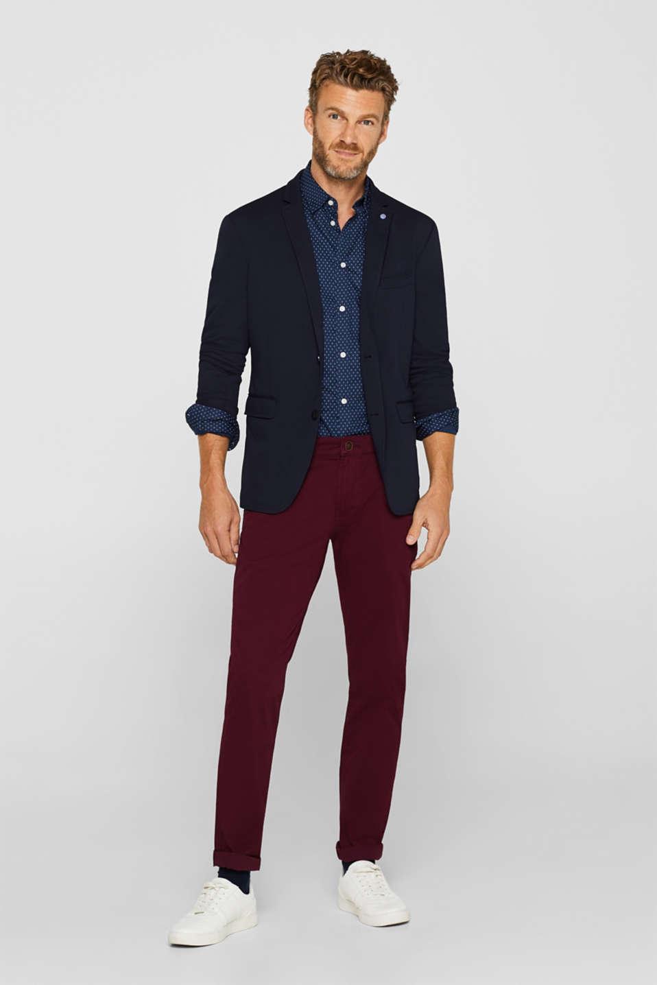Shirts woven Slim fit, DARK BLUE, detail image number 1
