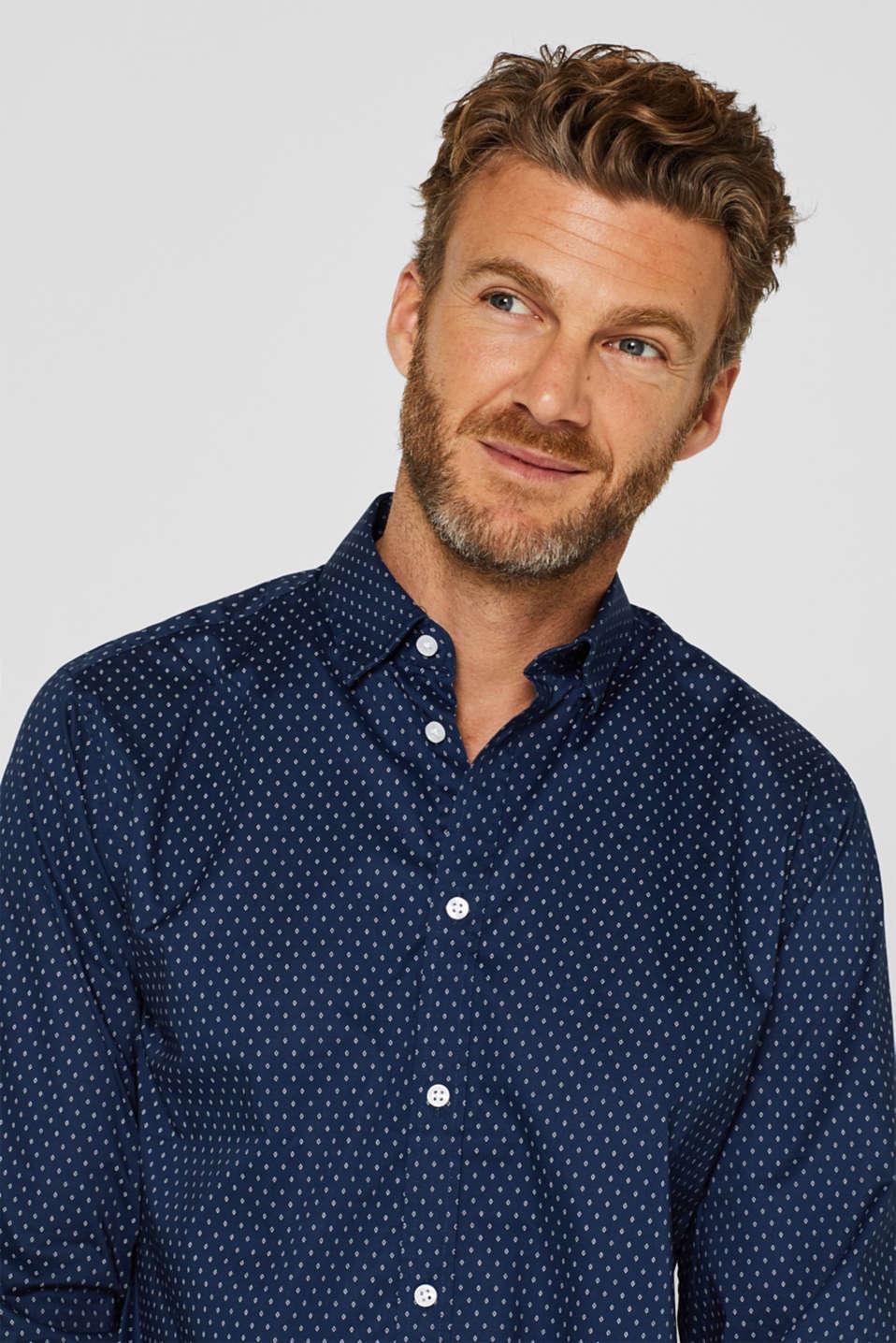 Shirts woven Slim fit, DARK BLUE, detail image number 5