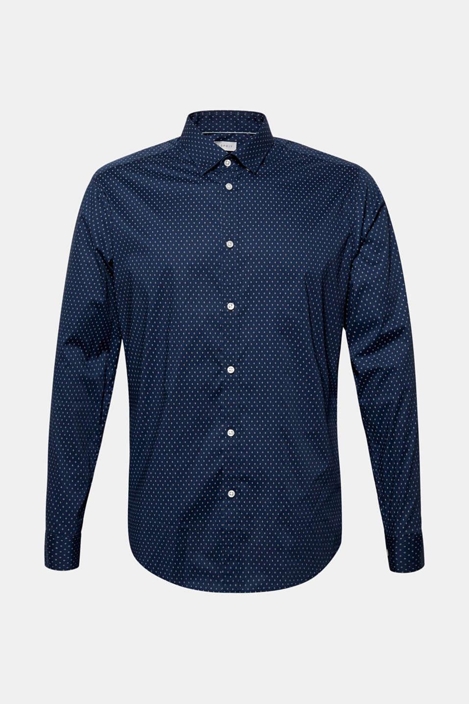 Shirts woven Slim fit, DARK BLUE, detail image number 6