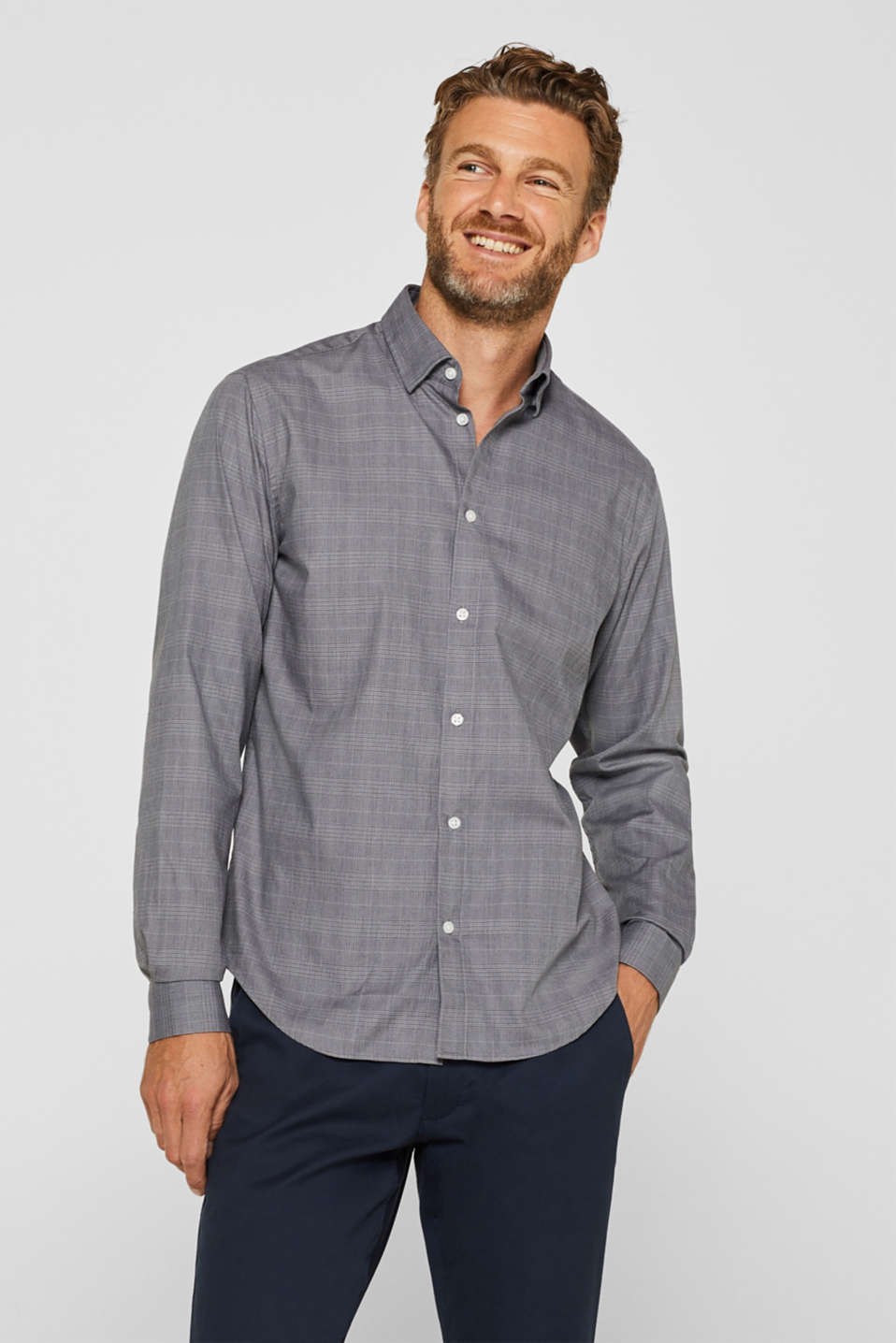 Esprit - Check shirt with COOLMAX®