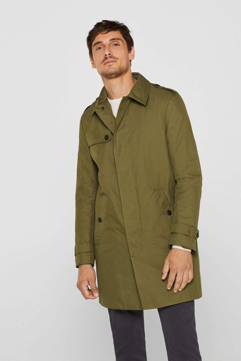 Esprit - Trenchcoat with 3M® Thinsulate filling