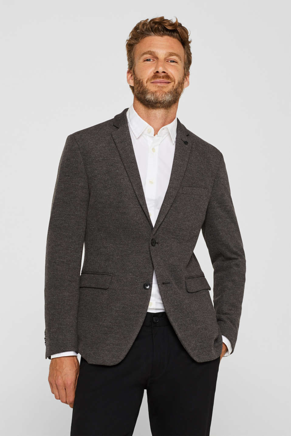 Men's blazer in piqué