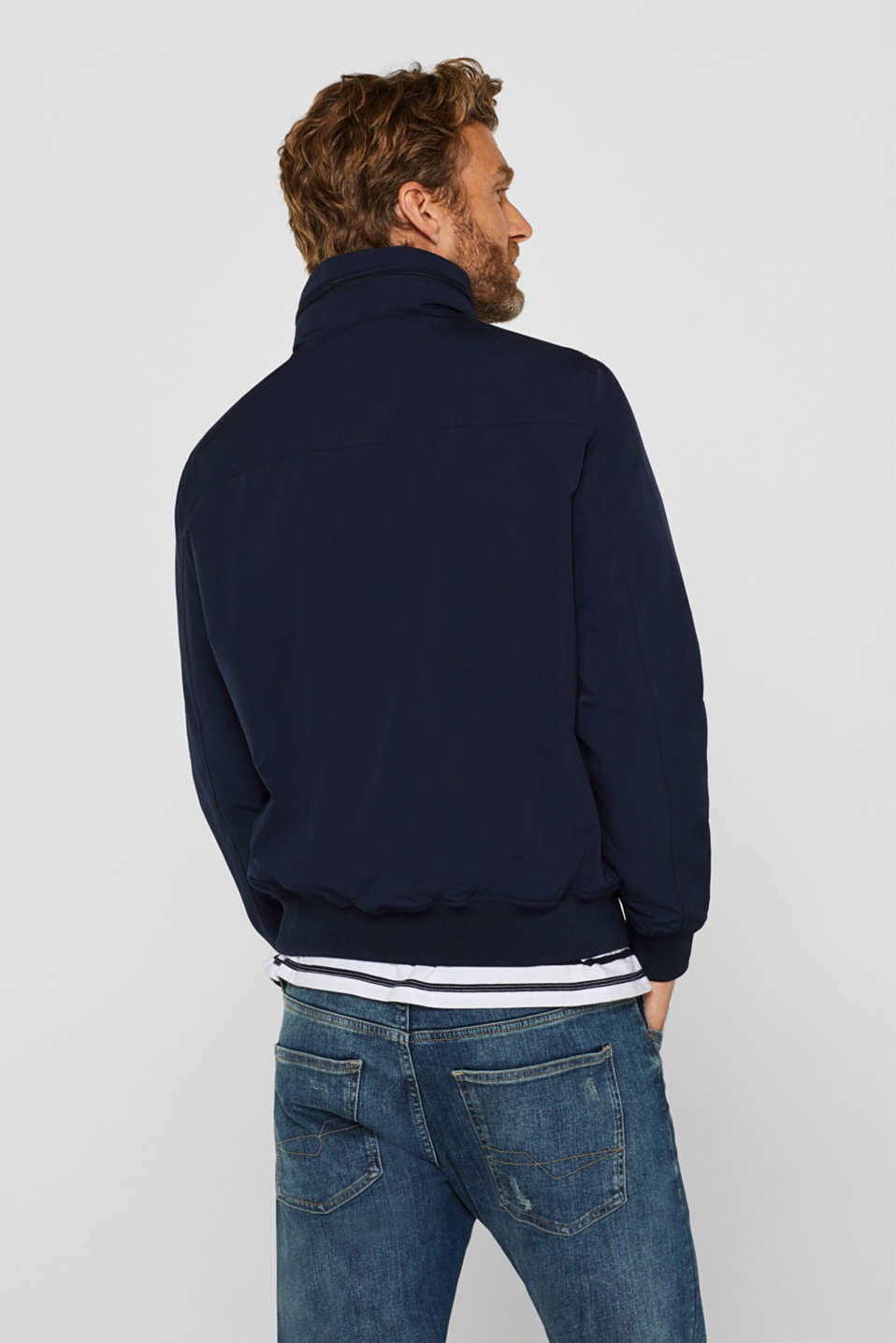 Bomber jacket with an adjustable hood, NAVY, detail image number 3