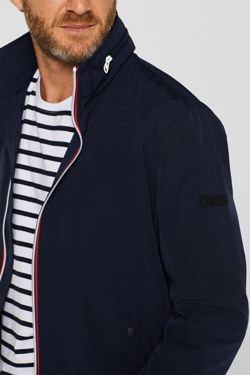 Bomber jacket with an adjustable hood, NAVY, detail image number 2