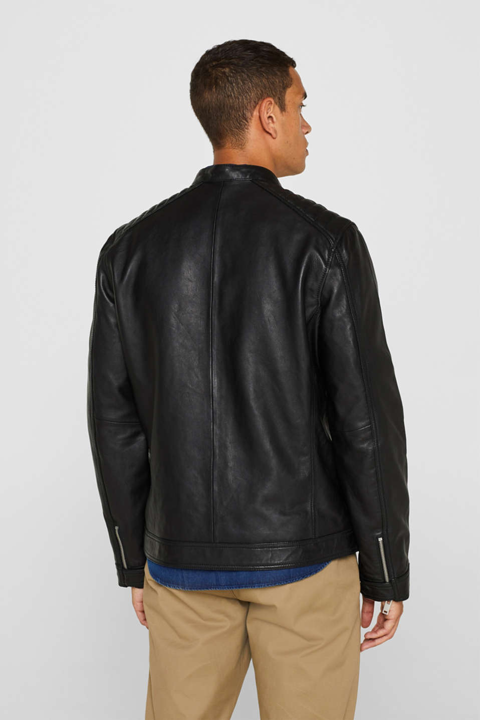 Jackets outdoor leather, BLACK, detail image number 3