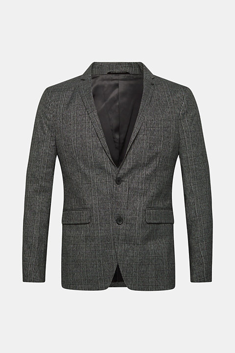 Sports jacket with a Prince of Wales check pattern