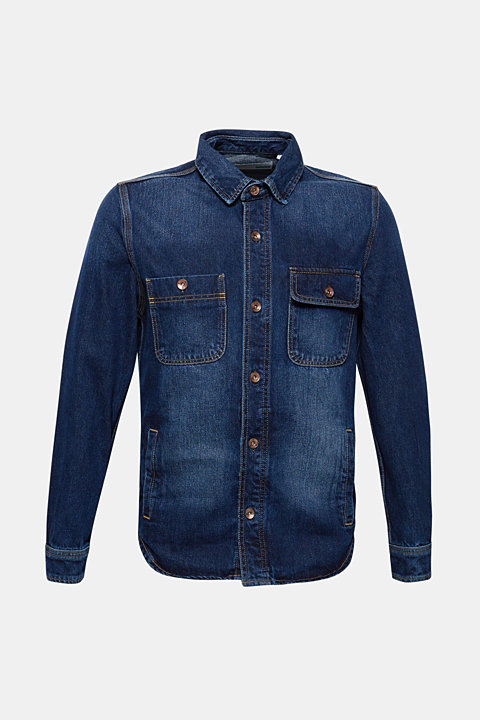 Denim jacket in 100% cotton
