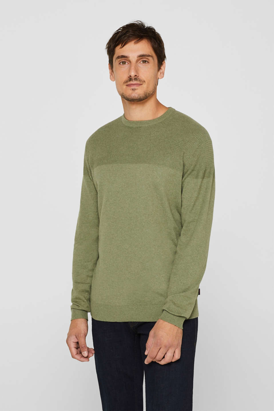 Sweaters, KHAKI GREEN, detail image number 0