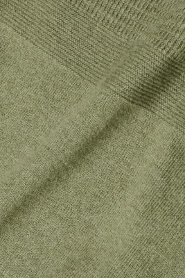 With cashmere: textured jumper