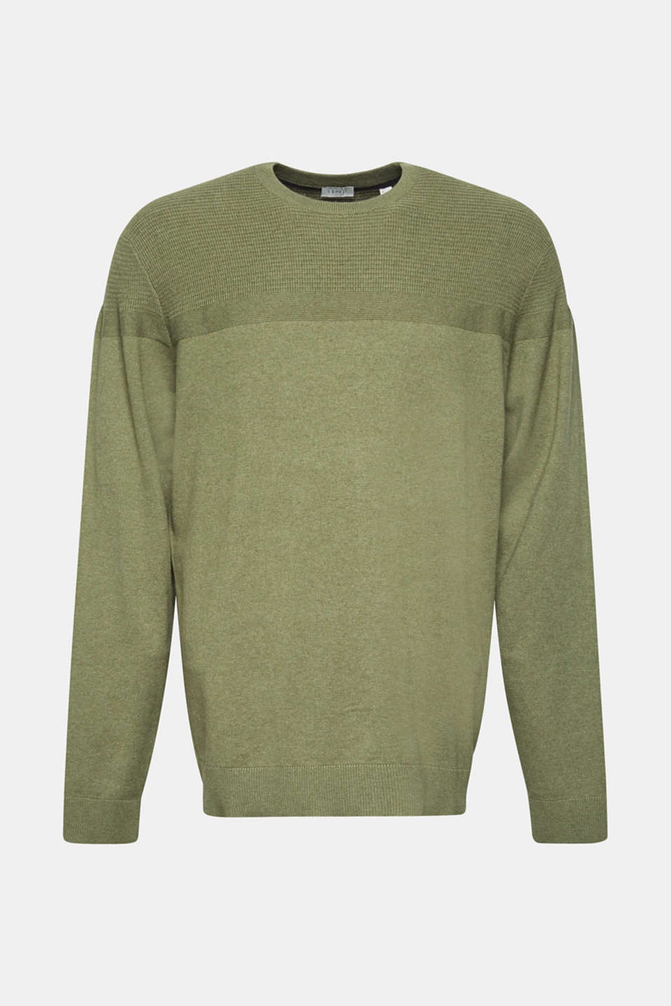 Sweaters, KHAKI GREEN, detail image number 6