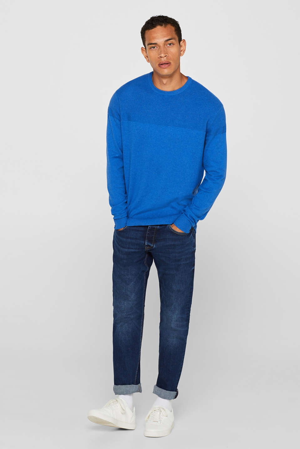 Sweaters, BLUE, detail image number 1
