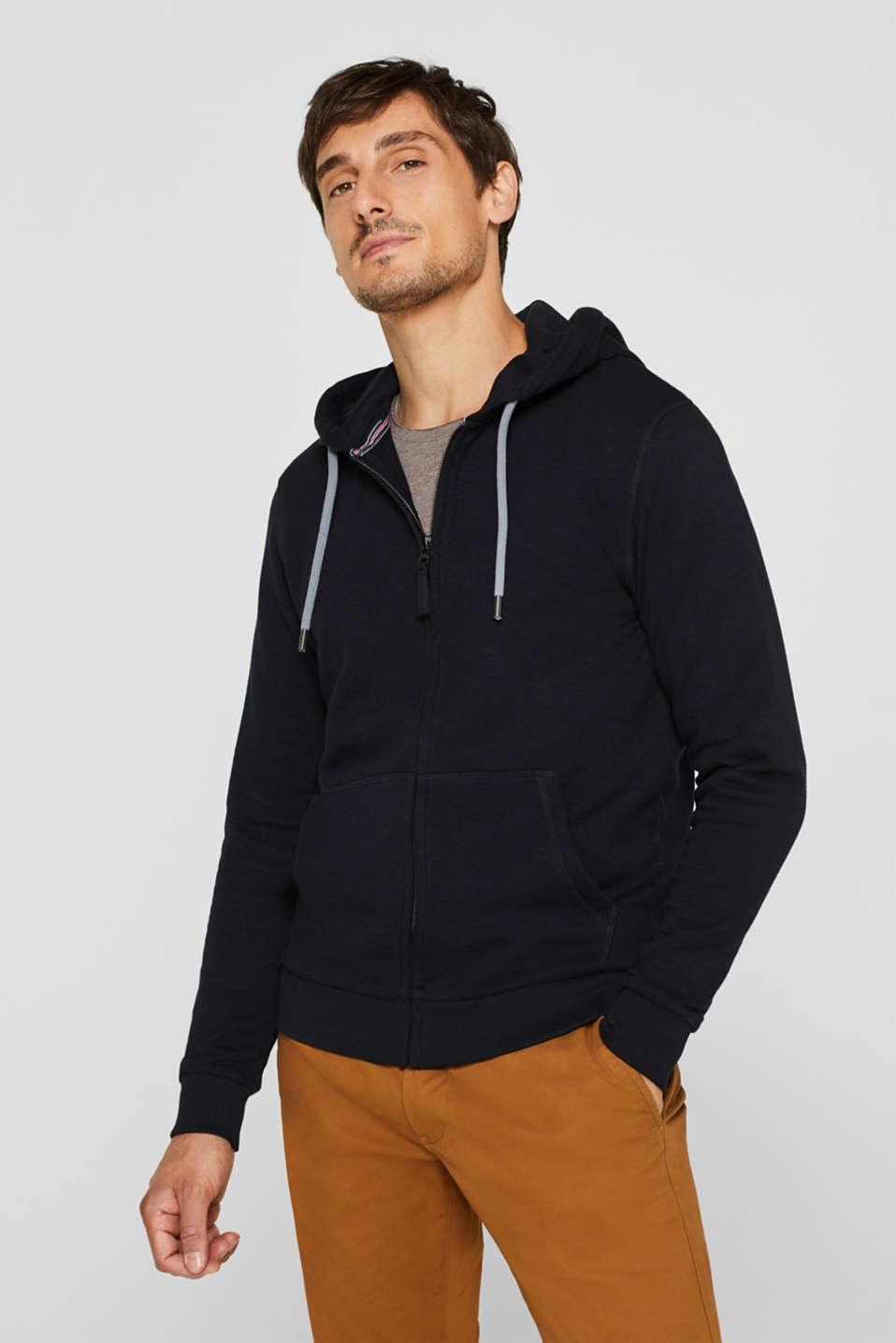 Hoodie in 100% cotton, BLACK, detail image number 0