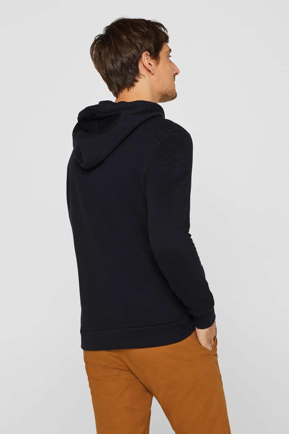 Hoodie in 100% cotton, BLACK, detail image number 3