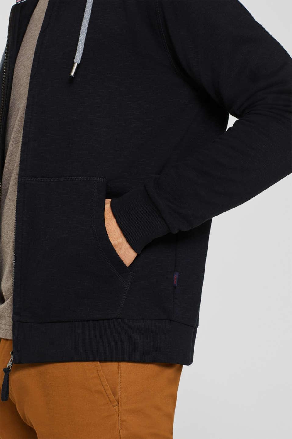 Hoodie in 100% cotton, BLACK, detail image number 2