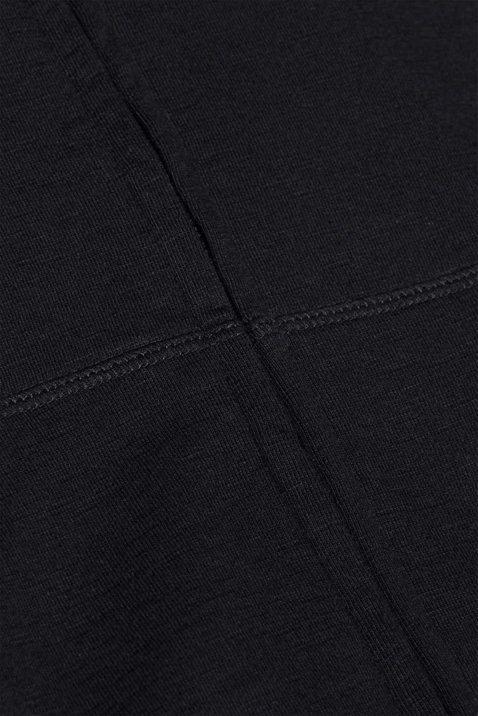 Hoodie in 100% cotton, BLACK, detail image number 4
