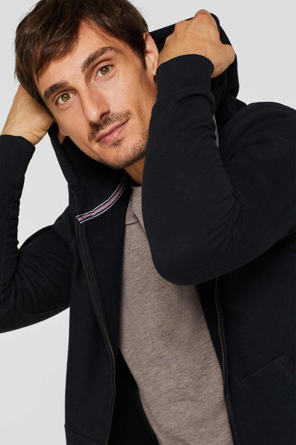 Hoodie in 100% cotton, BLACK, detail image number 5