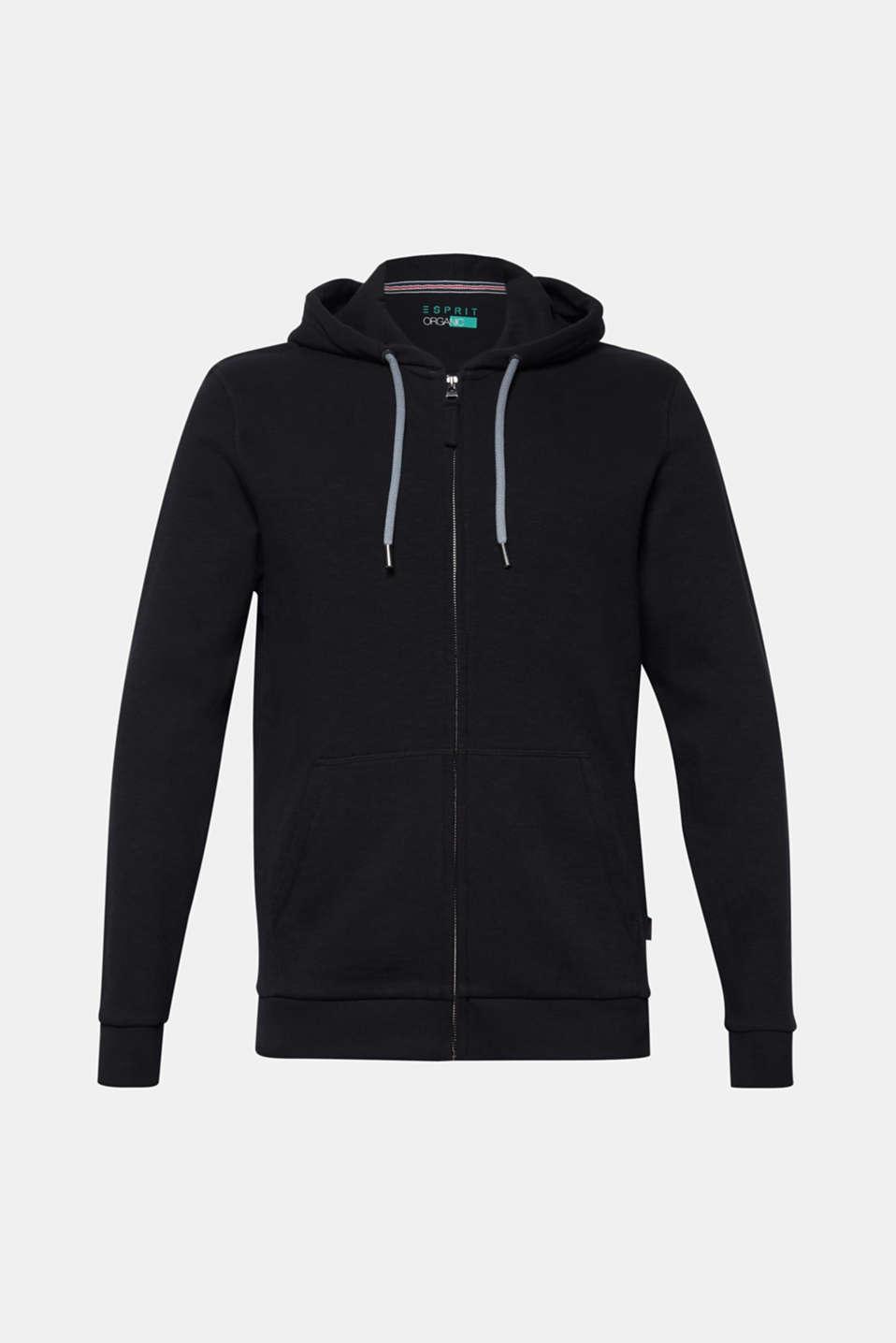 Hoodie in 100% cotton, BLACK, detail image number 6
