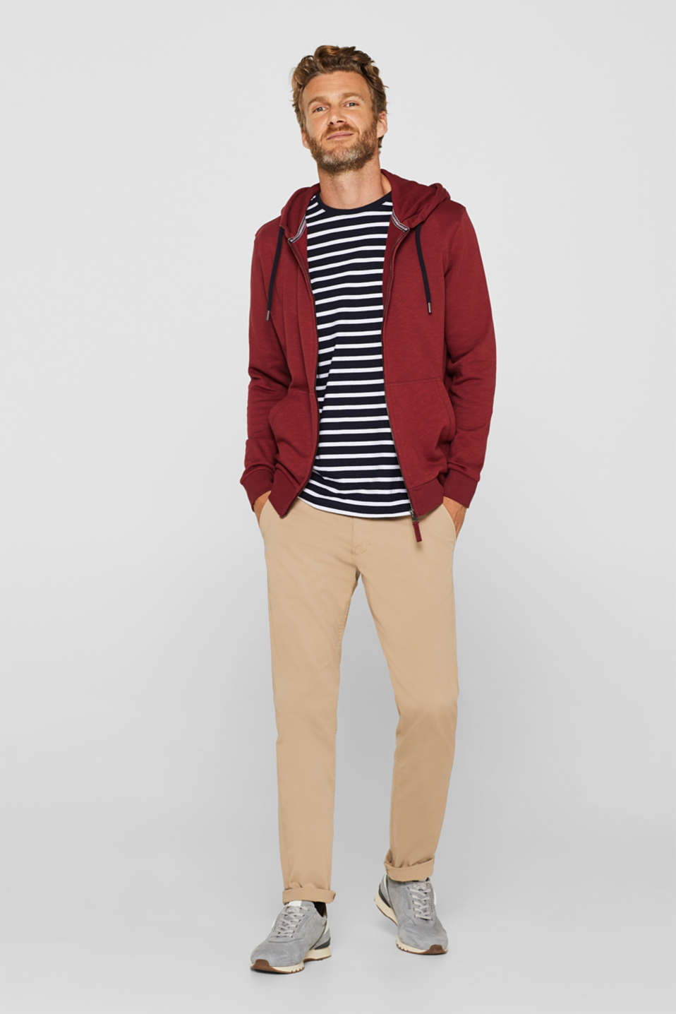 Sweatshirts, BORDEAUX RED, detail image number 4