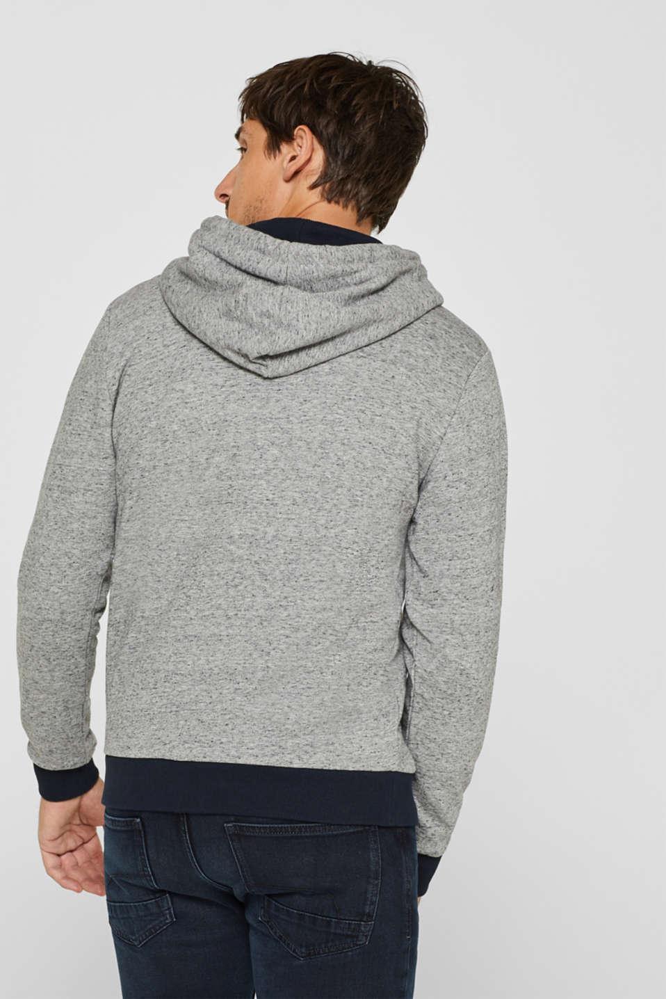 Cotton blend hoodie, MEDIUM GREY, detail image number 3