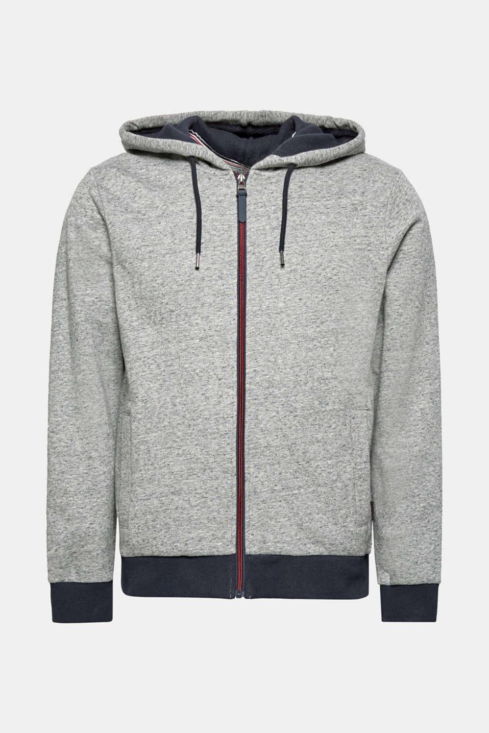 Cotton blend hoodie, MEDIUM GREY, detail image number 7