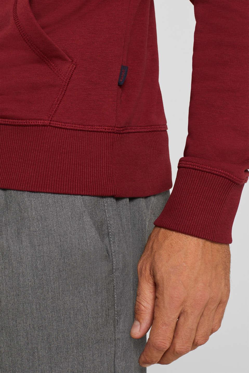 Sweatshirts, BORDEAUX RED, detail image number 2