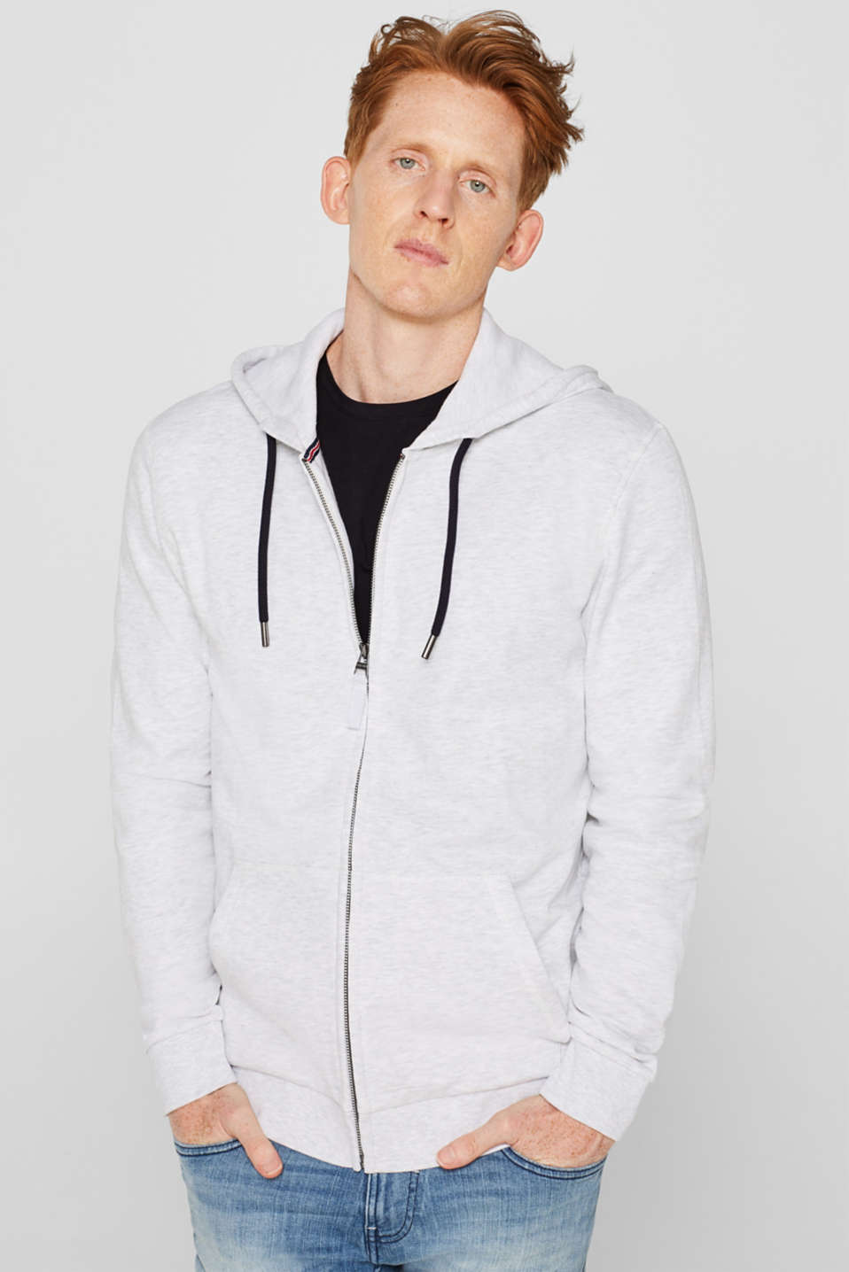 Esprit - Hooded sweatshirt cardigan