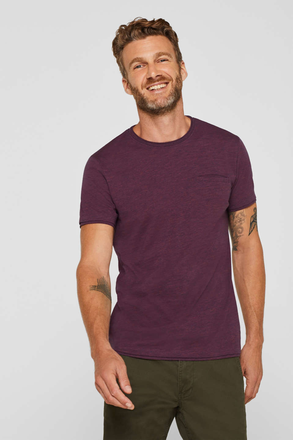 Esprit - Jersey T-shirt in blended cotton