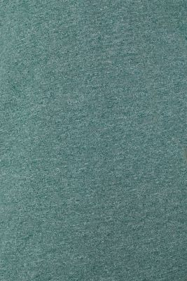 Jersey T-shirt in blended cotton, DUSTY GREEN, detail