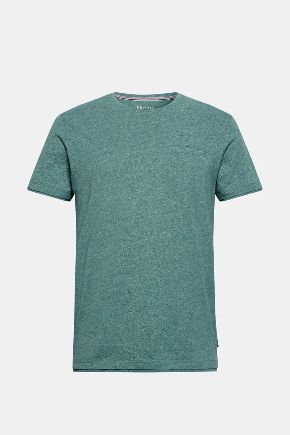 Jersey T-shirt in blended cotton, DUSTY GREEN, detail image number 6