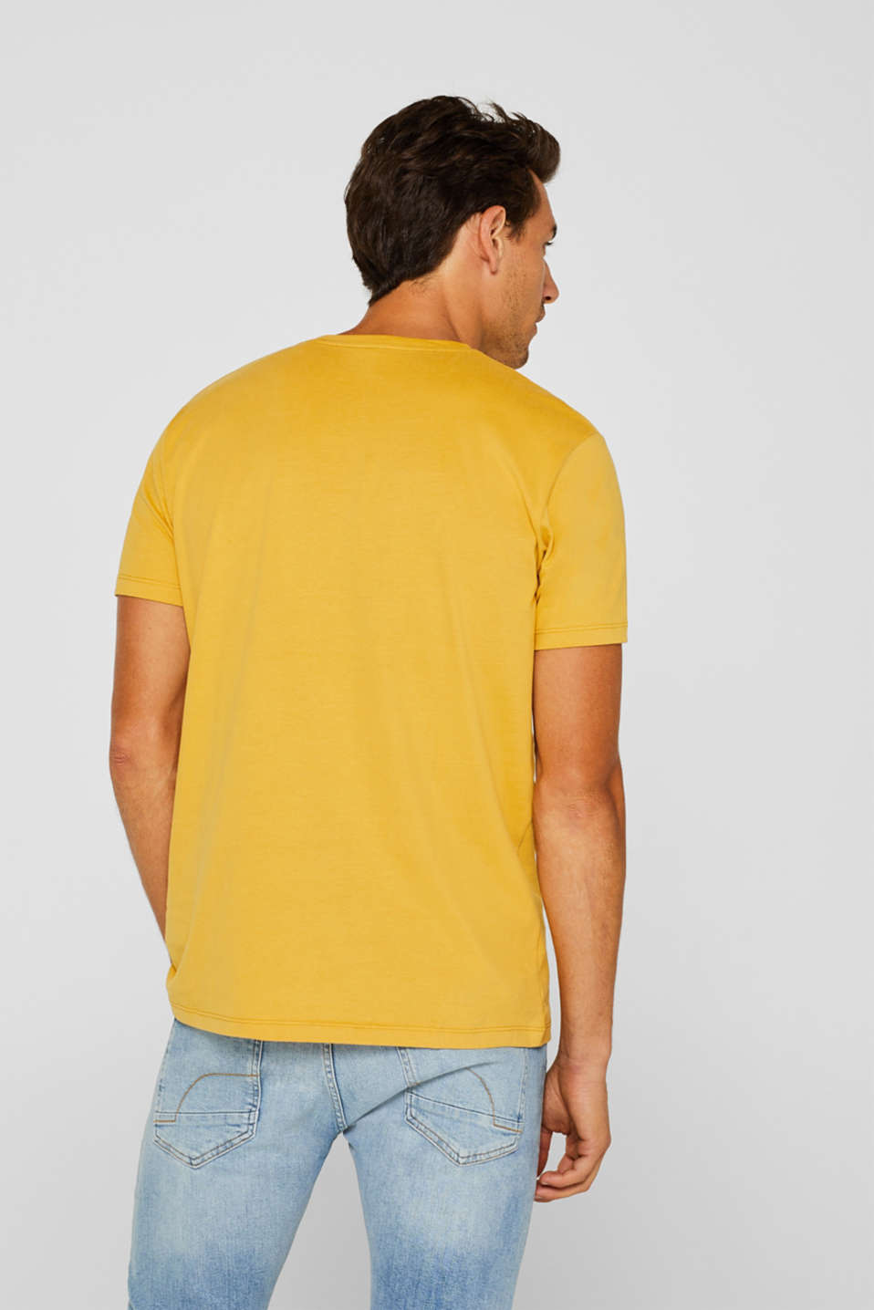 Jersey T-shirt in 100% cotton, YELLOW, detail image number 3