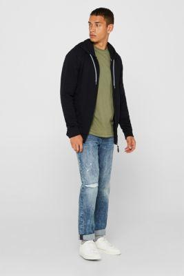 Long sleeve jersey top in 100% cotton, KHAKI GREEN, detail