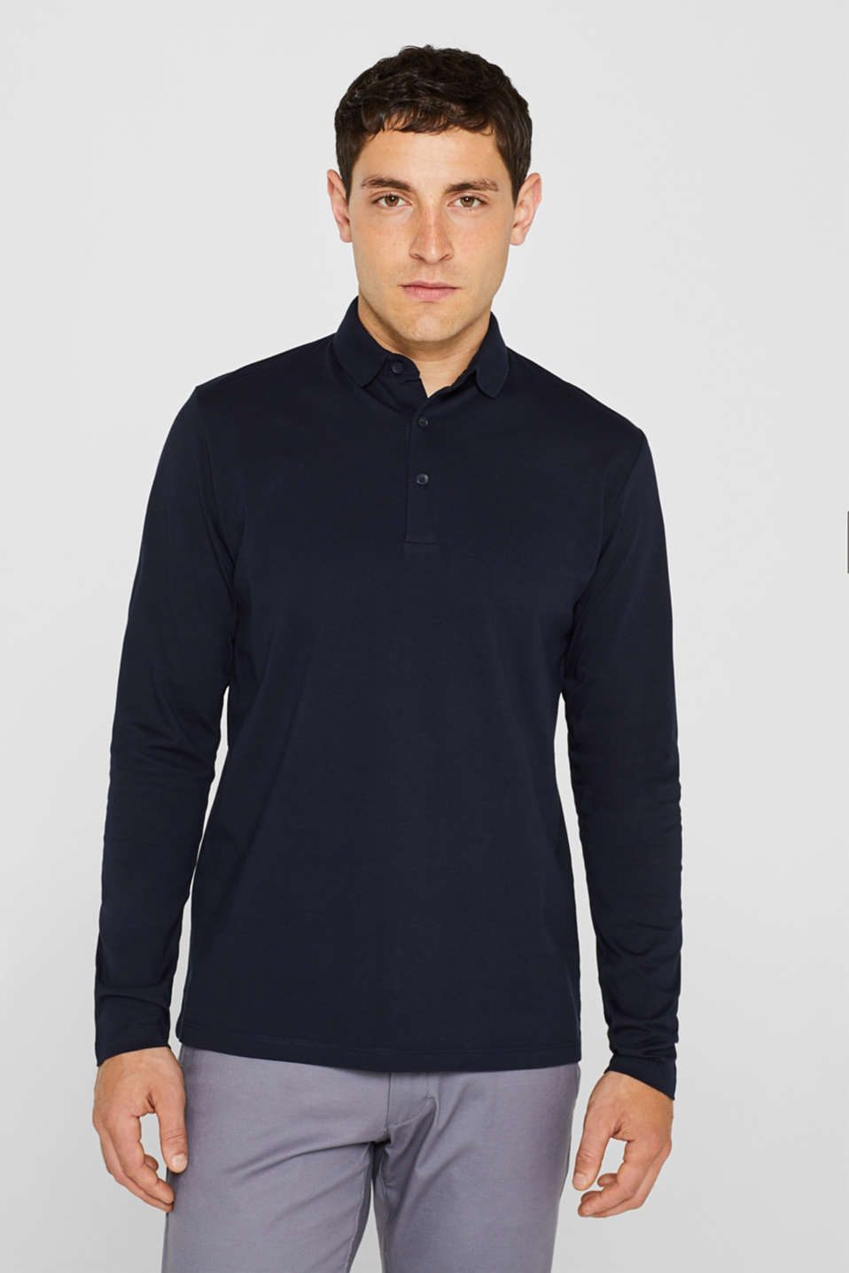 Esprit - Jersey polo shirt in 100% cotton