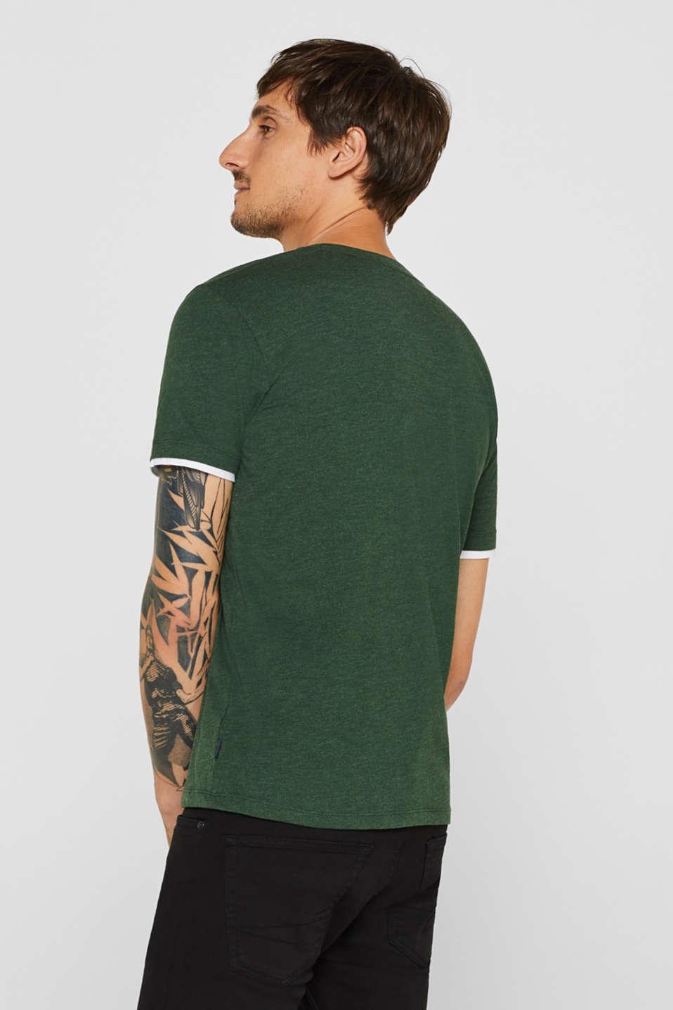 Layered jersey T-shirt, KHAKI GREEN, detail image number 3