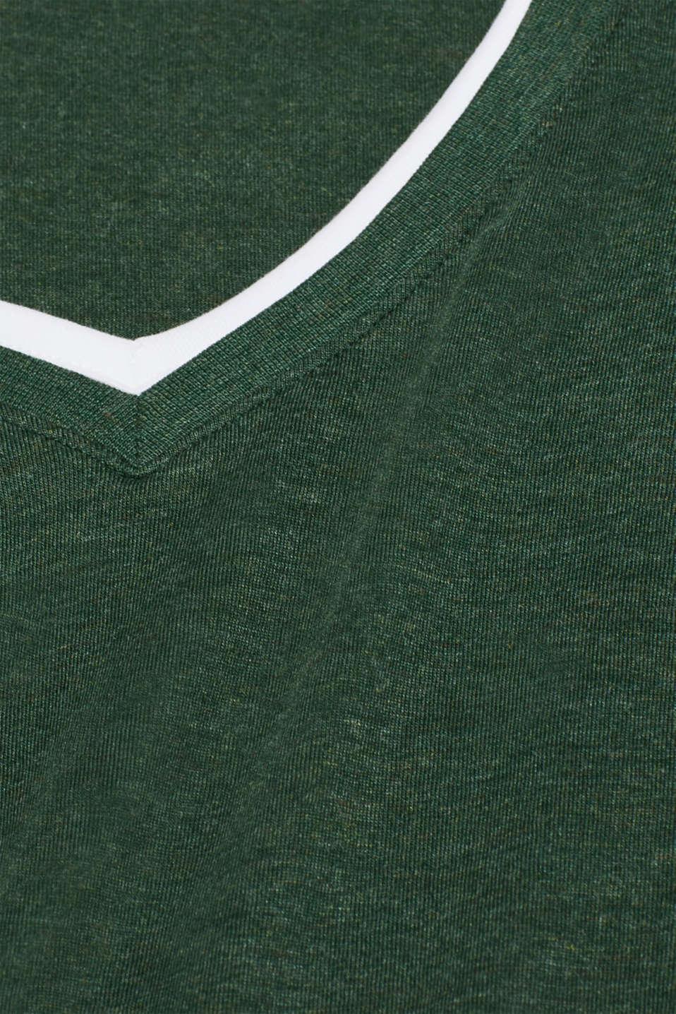Layered jersey T-shirt, KHAKI GREEN, detail image number 5
