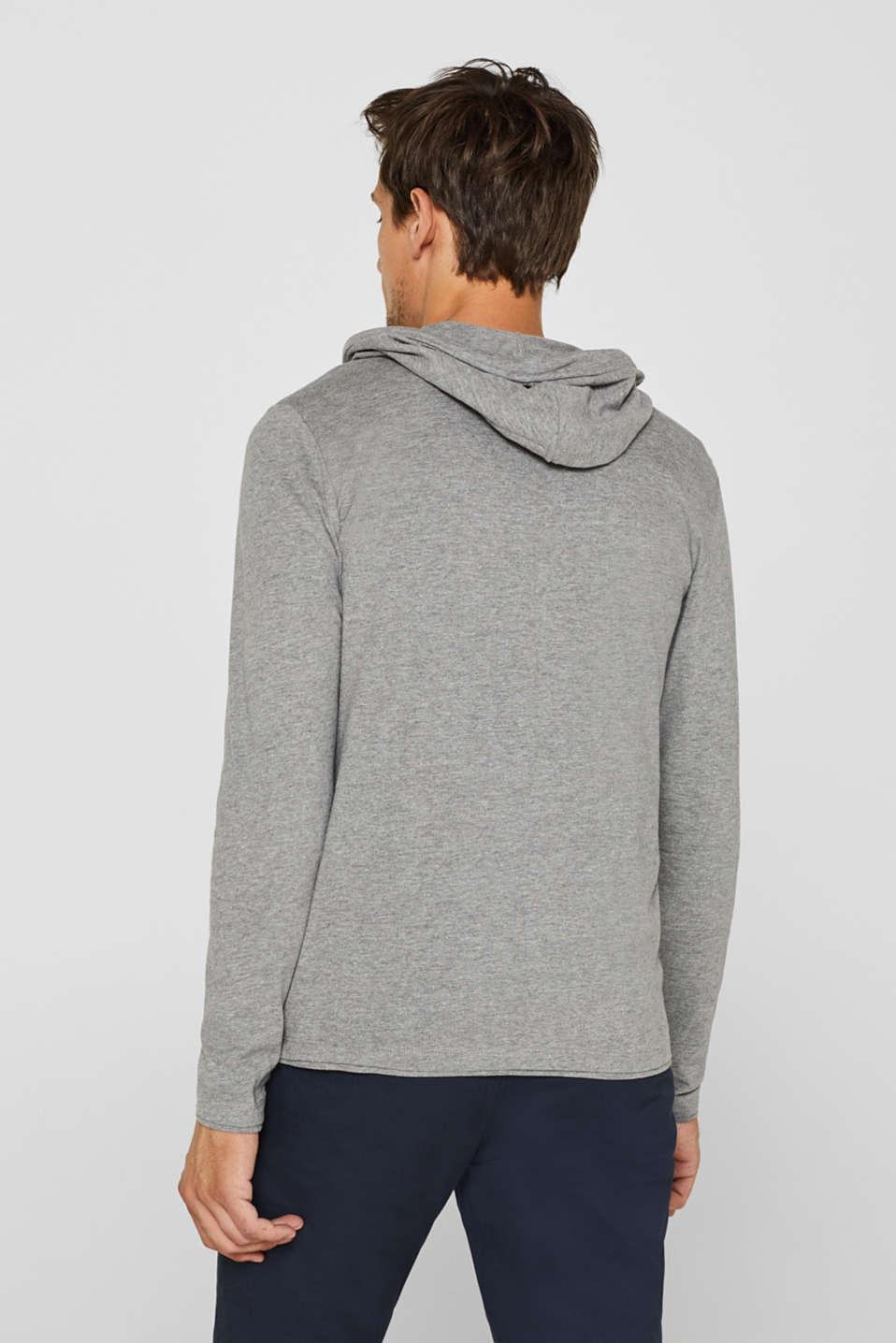 Long sleeve jersey hoodie, MEDIUM GREY, detail image number 3