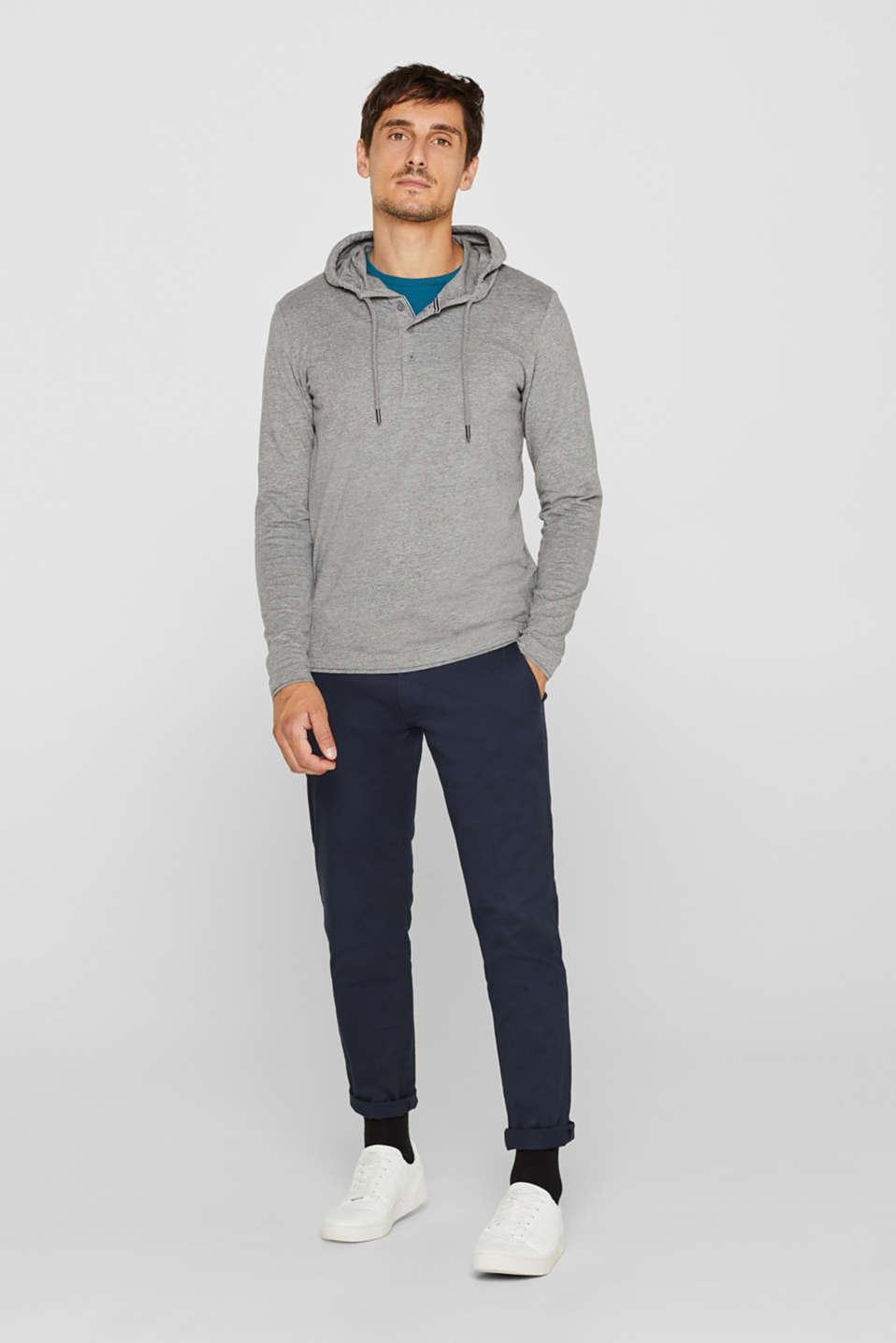 Long sleeve jersey hoodie, MEDIUM GREY, detail image number 2