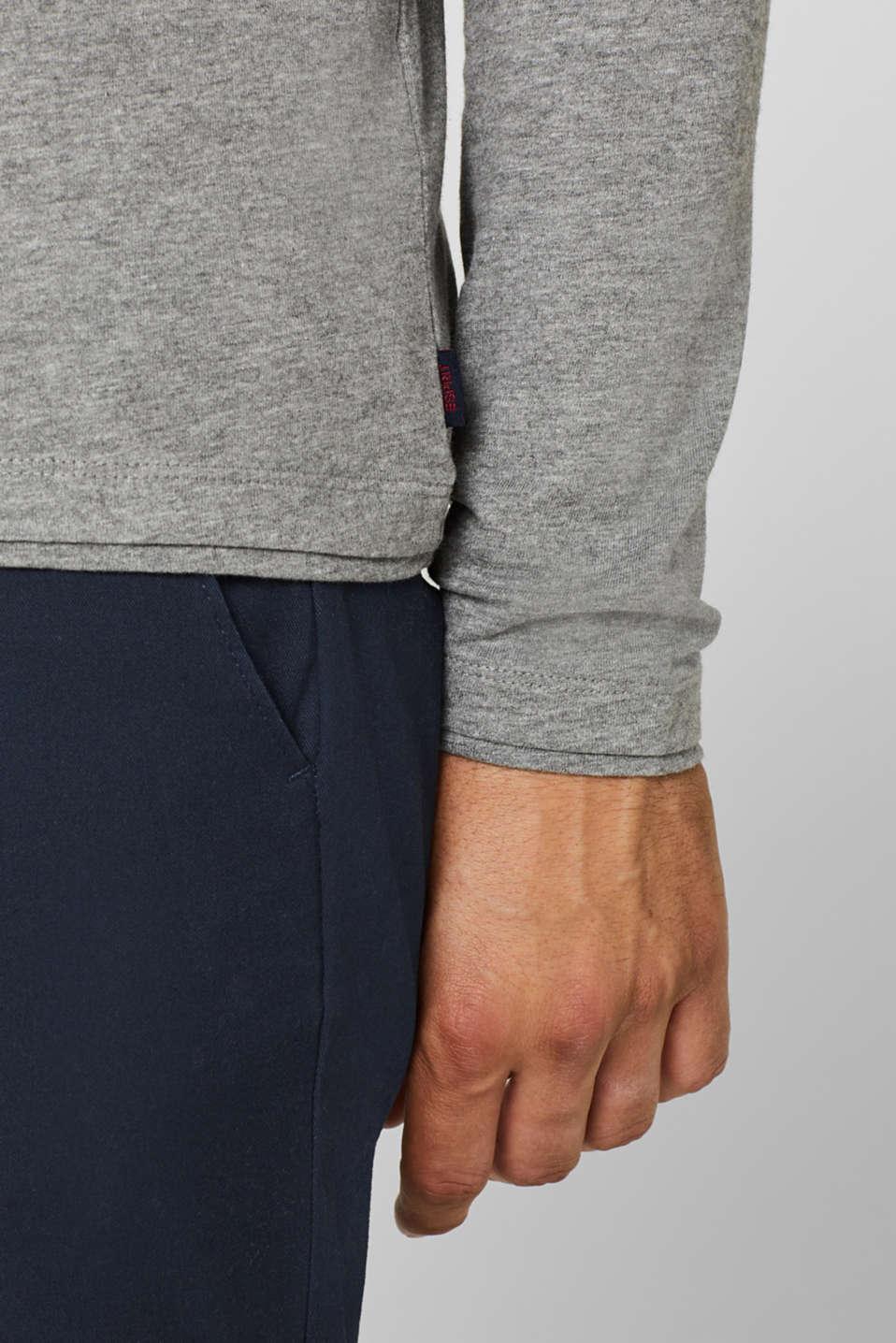Long sleeve jersey hoodie, MEDIUM GREY, detail image number 1