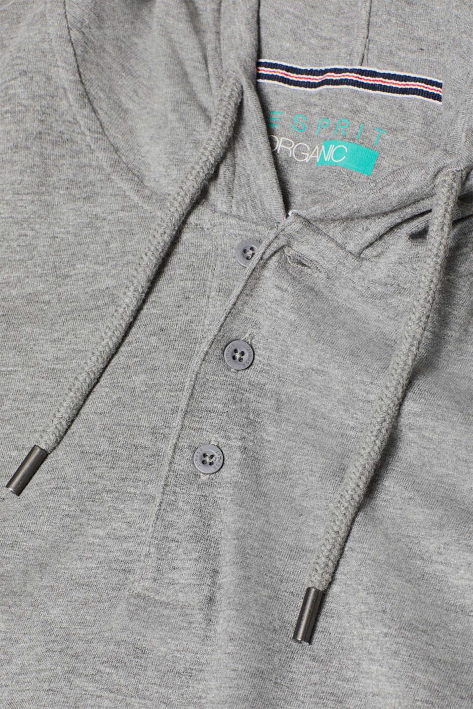 Long sleeve jersey hoodie, MEDIUM GREY, detail image number 4
