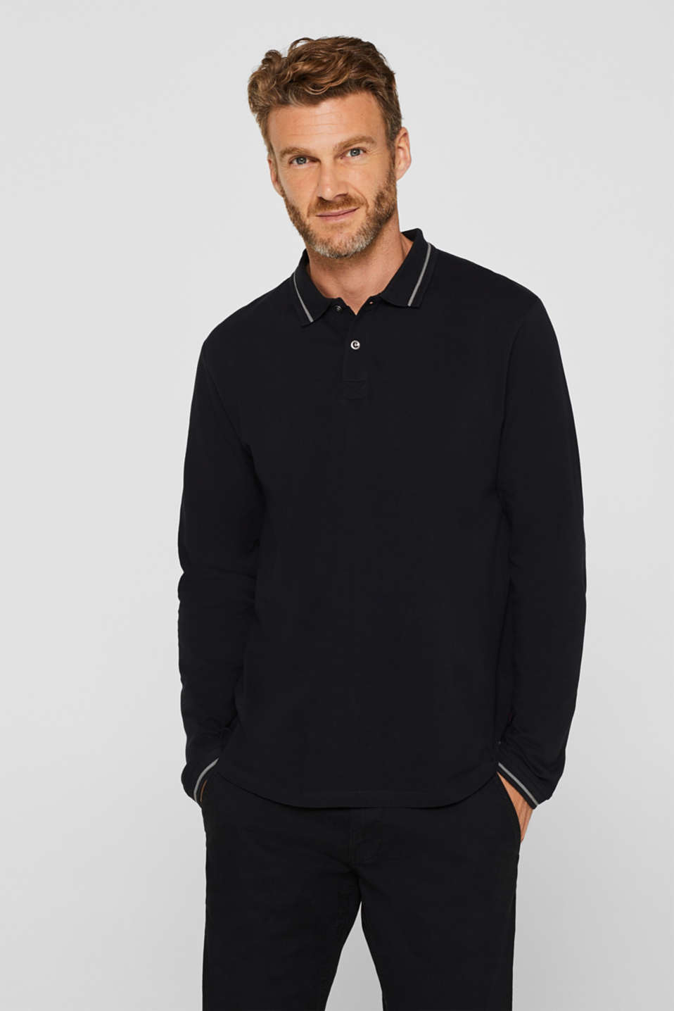 Polo shirts, BLACK, detail image number 0