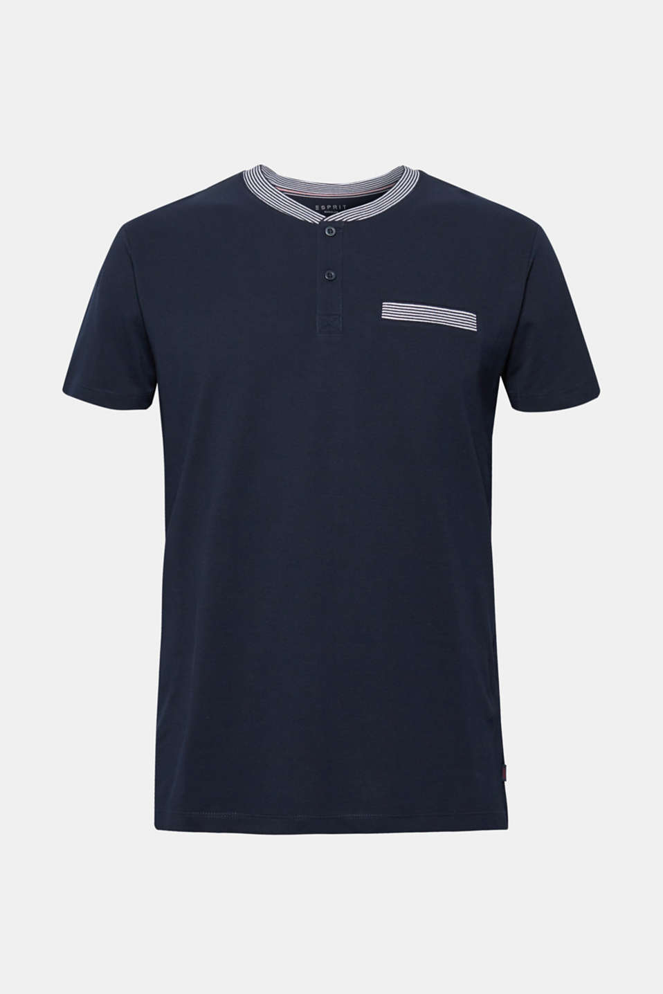 Piqué polo shirt in 100% cotton, NAVY, detail image number 6