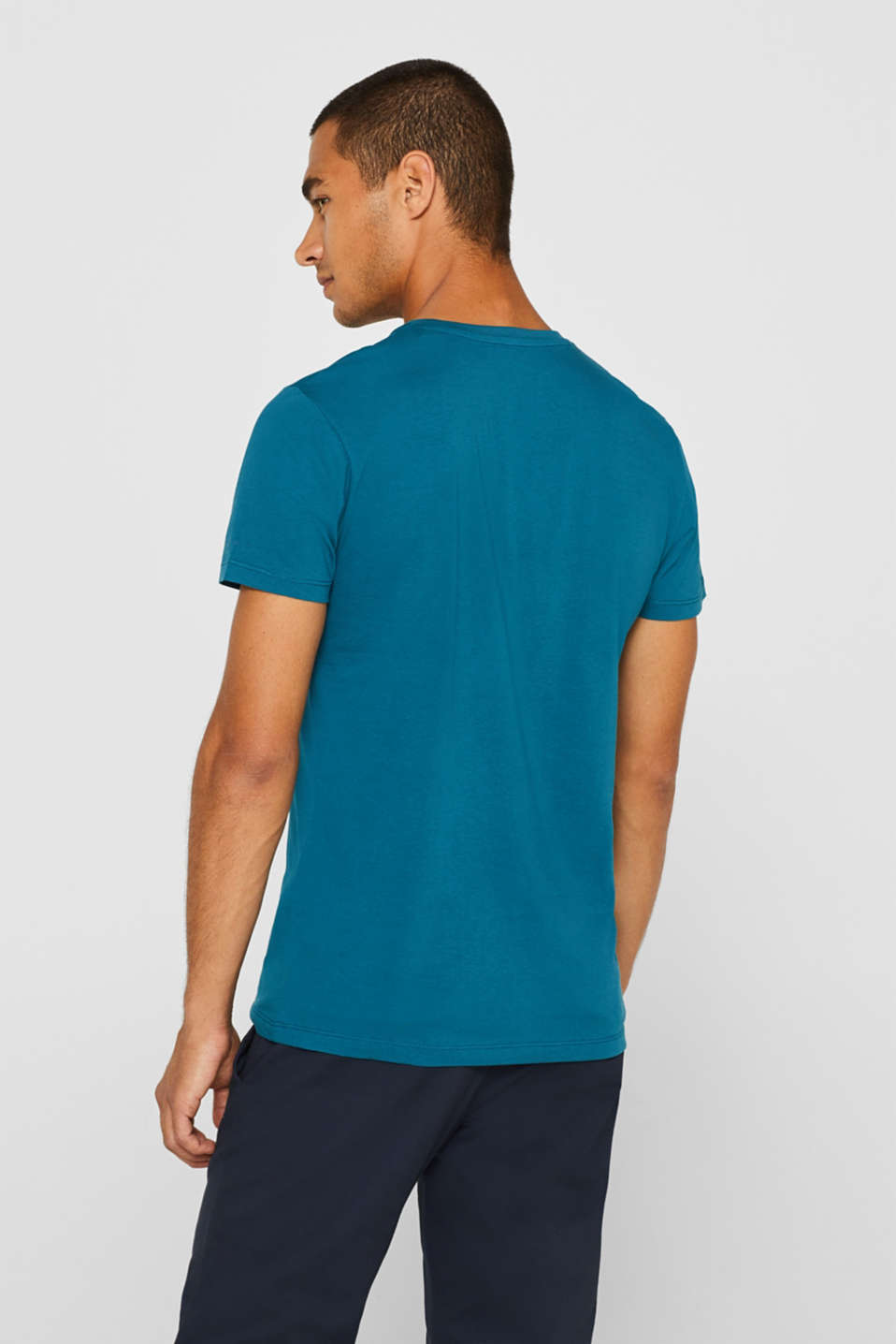 Jersey T-shirt in 100% cotton, PETROL BLUE 2, detail image number 3