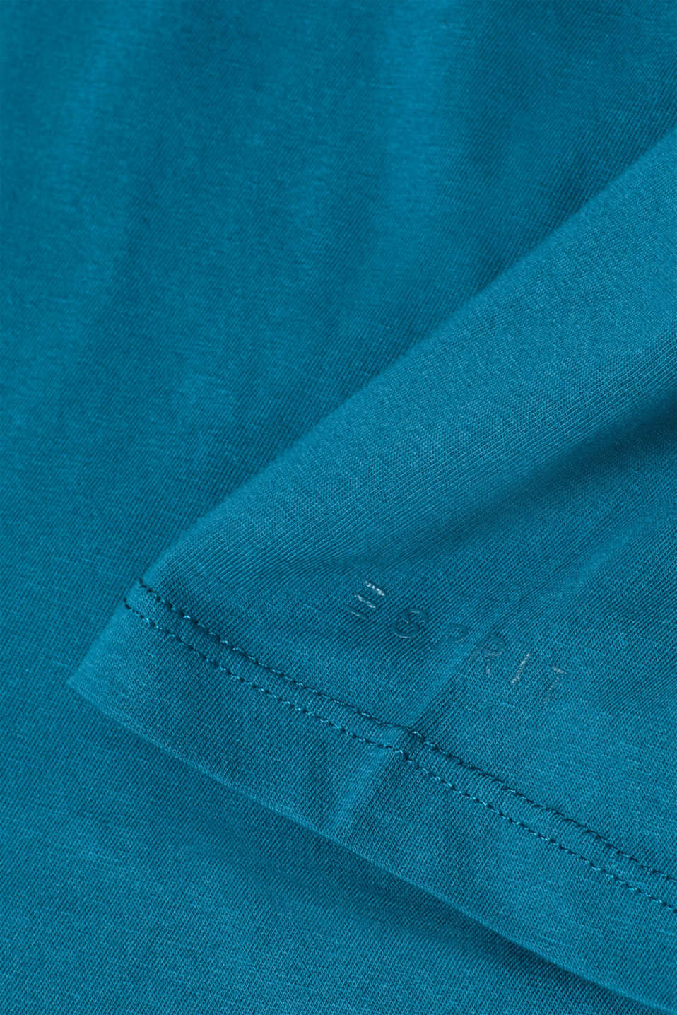 Jersey T-shirt in 100% cotton, PETROL BLUE 2, detail image number 1