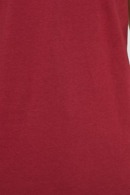 Jersey T-shirt in 100% cotton, BORDEAUX RED 2, detail