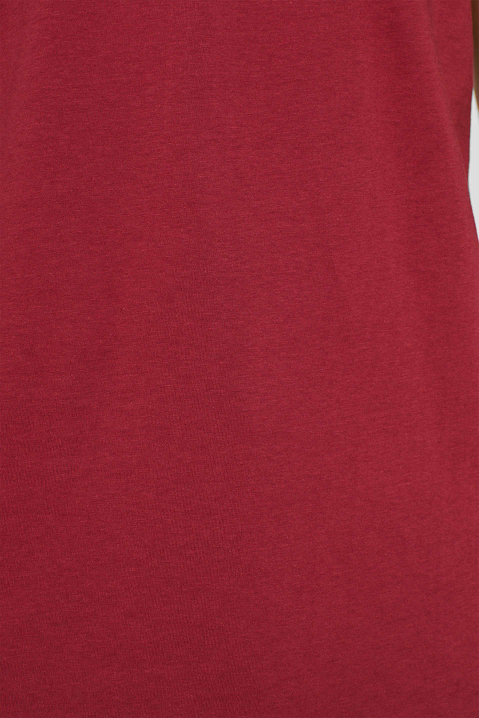 Jersey T-shirt in 100% cotton, BORDEAUX RED 2, detail image number 4